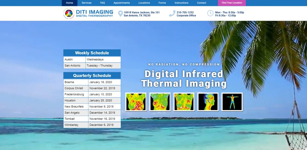 DITI Imaging website screenshot